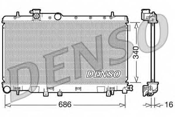 Радиатор охлаждения двигателя DENSO DRM36006 - изображение