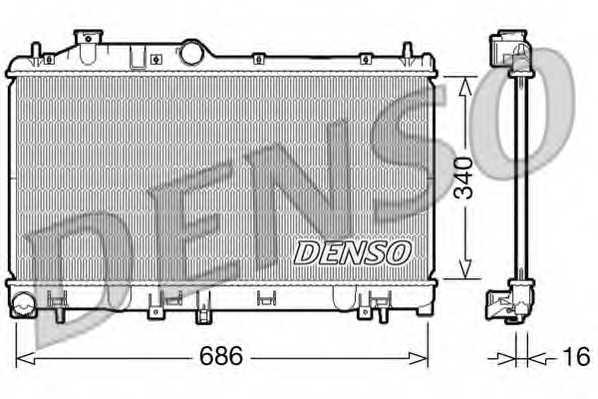 Радиатор охлаждения двигателя DENSO DRM36007 - изображение