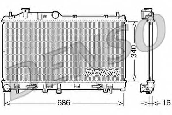 Радиатор охлаждения двигателя DENSO DRM36008 - изображение