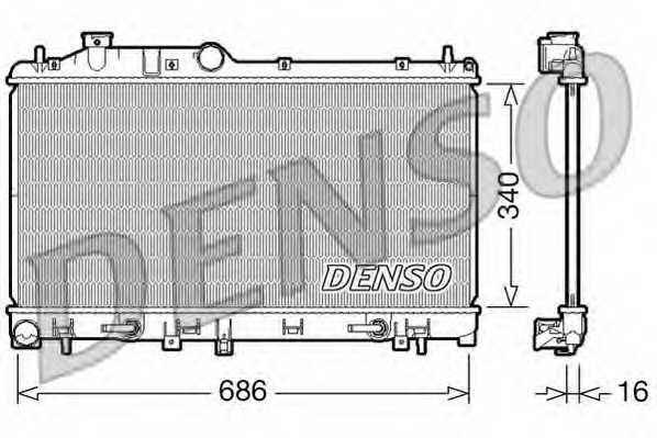 Радиатор охлаждения двигателя DENSO DRM36009 - изображение