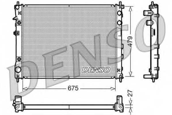 Радиатор охлаждения двигателя DENSO DRM36012 - изображение