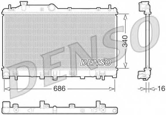 Радиатор охлаждения двигателя DENSO DRM36013 - изображение