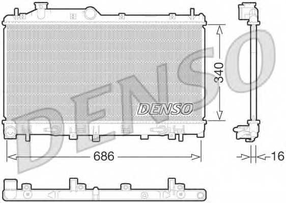 Радиатор охлаждения двигателя DENSO DRM36015 - изображение