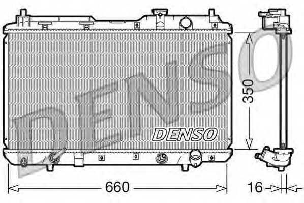 Радиатор охлаждения двигателя DENSO DRM40010 - изображение