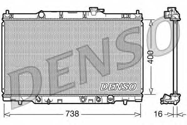 Радиатор охлаждения двигателя DENSO DRM40012 - изображение