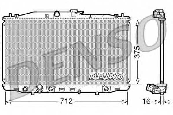 Радиатор охлаждения двигателя DENSO DRM40022 - изображение