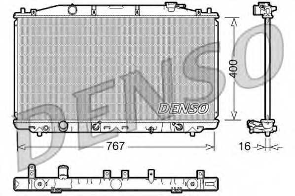 Радиатор охлаждения двигателя DENSO DRM40025 - изображение