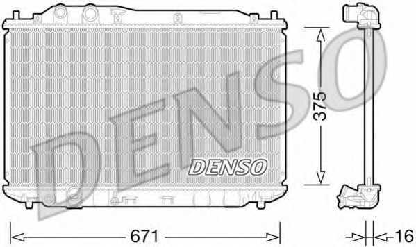 Радиатор охлаждения двигателя DENSO DRM40028 - изображение