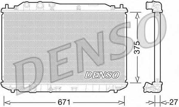 Радиатор охлаждения двигателя DENSO DRM40029 - изображение