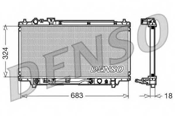 Радиатор охлаждения двигателя DENSO DRM44001 - изображение