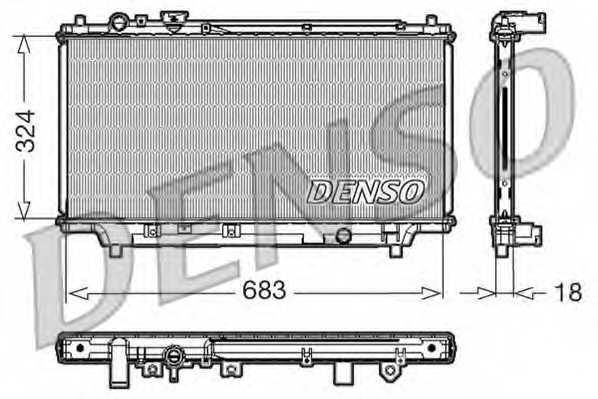 Радиатор охлаждения двигателя DENSO DRM44002 - изображение