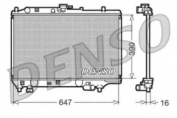 Радиатор охлаждения двигателя DENSO DRM44006 - изображение