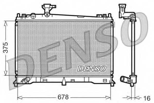 Радиатор охлаждения двигателя DENSO DRM44010 - изображение