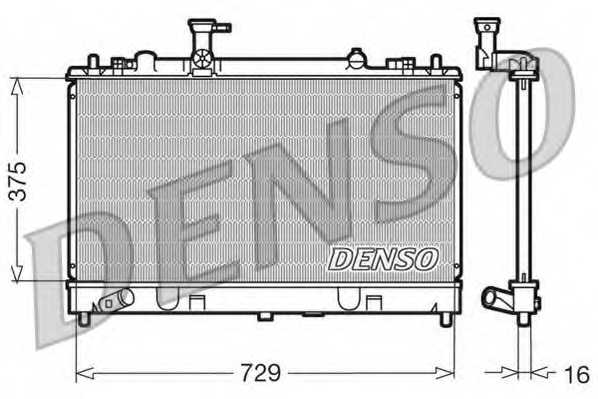Радиатор охлаждения двигателя DENSO DRM44011 - изображение