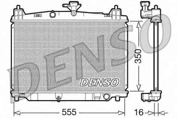 Радиатор охлаждения двигателя DENSO DRM44016 - изображение
