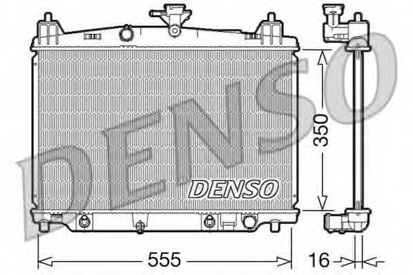 Радиатор охлаждения двигателя DENSO DRM44018 - изображение