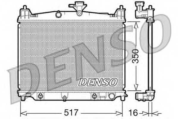 Радиатор охлаждения двигателя DENSO DRM44019 - изображение