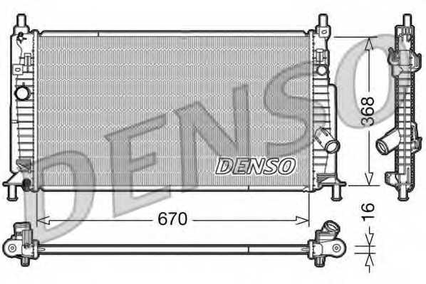 Радиатор охлаждения двигателя DENSO DRM44020 - изображение