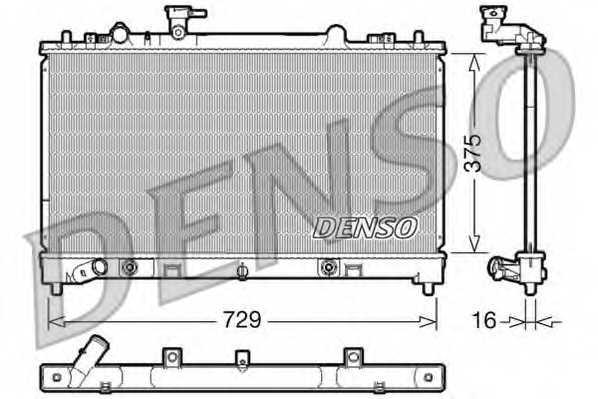 Радиатор охлаждения двигателя DENSO DRM44022 - изображение