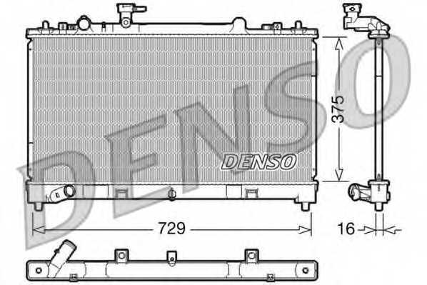 Радиатор охлаждения двигателя DENSO DRM44023 - изображение