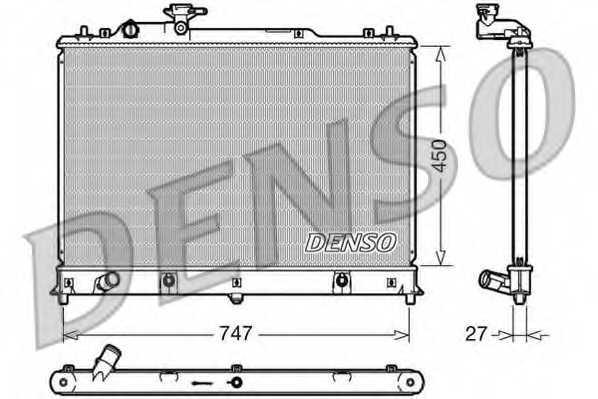 Радиатор охлаждения двигателя DENSO DRM44025 - изображение