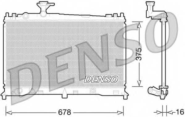 Радиатор охлаждения двигателя DENSO DRM44027 - изображение