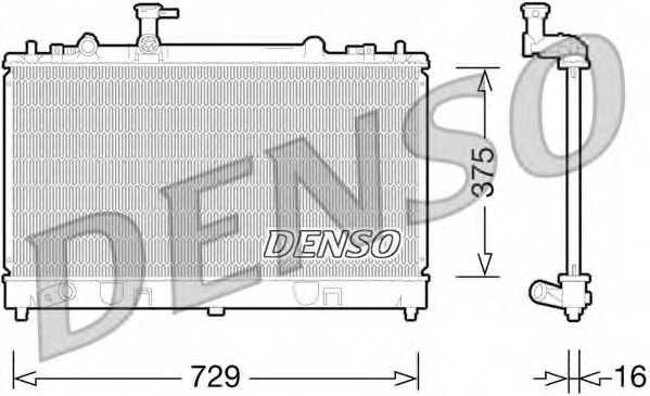Радиатор охлаждения двигателя DENSO DRM44028 - изображение