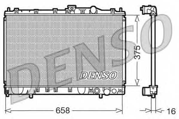 Радиатор охлаждения двигателя DENSO DRM45002 - изображение