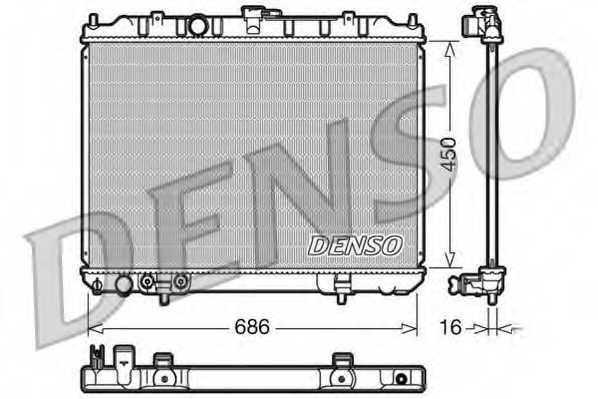 Радиатор охлаждения двигателя DENSO DRM45005 - изображение