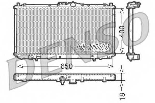 Радиатор охлаждения двигателя DENSO DRM45010 - изображение