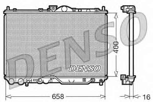 Радиатор охлаждения двигателя DENSO DRM45011 - изображение