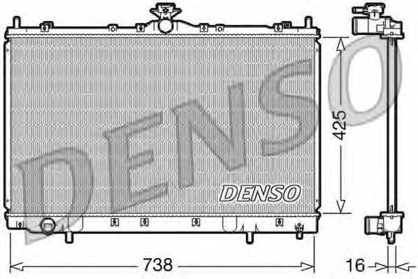 Радиатор охлаждения двигателя DENSO DRM45012 - изображение