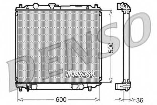Радиатор охлаждения двигателя DENSO DRM45014 - изображение
