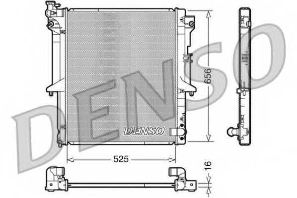Радиатор охлаждения двигателя DENSO DRM45017 - изображение