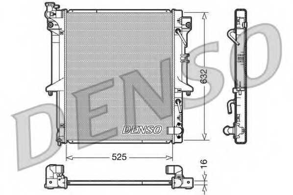 Радиатор охлаждения двигателя DENSO DRM45018 - изображение