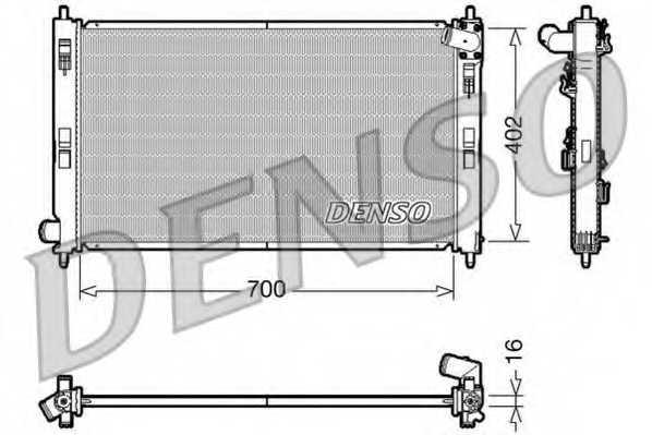 Радиатор охлаждения двигателя DENSO DRM45023 - изображение