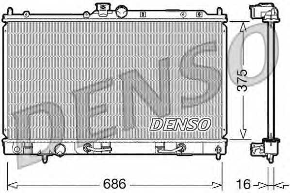 Радиатор охлаждения двигателя DENSO DRM45024 - изображение