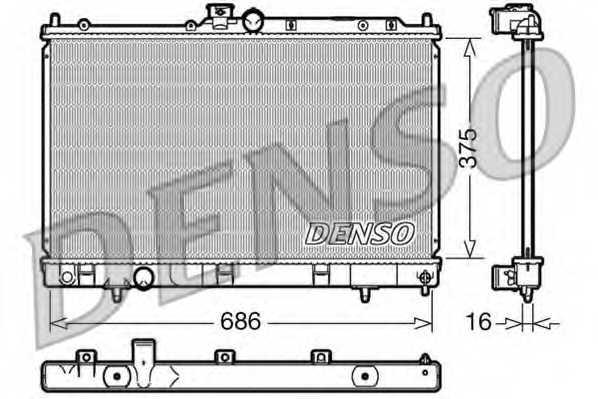 Радиатор охлаждения двигателя DENSO DRM45025 - изображение