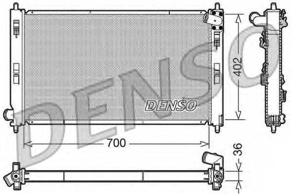 Радиатор охлаждения двигателя DENSO DRM45029 - изображение