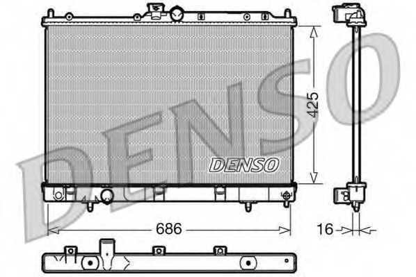 Радиатор охлаждения двигателя DENSO DRM45031 - изображение