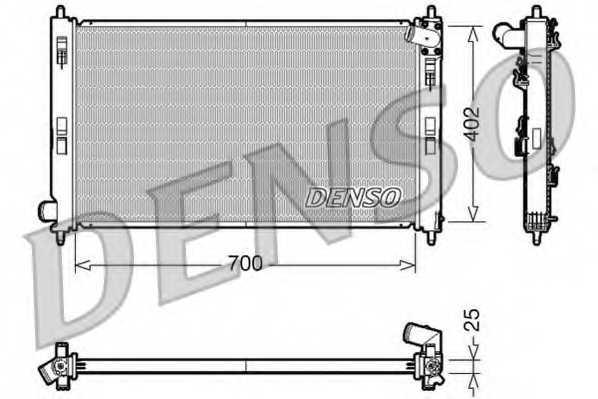 Радиатор охлаждения двигателя DENSO DRM45032 - изображение