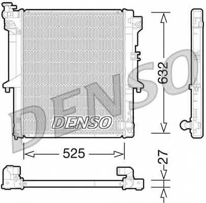 Радиатор охлаждения двигателя DENSO DRM45034 - изображение