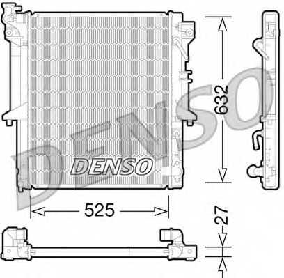 Радиатор охлаждения двигателя DENSO DRM45035 - изображение