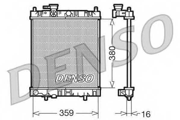 Радиатор охлаждения двигателя DENSO DRM46001 - изображение
