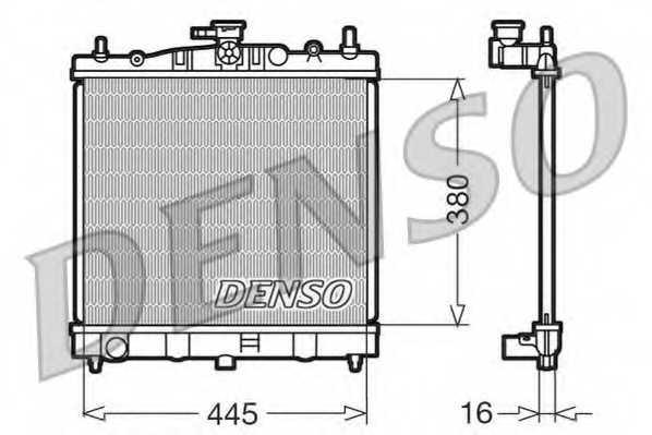 Радиатор охлаждения двигателя DENSO DRM46002 - изображение