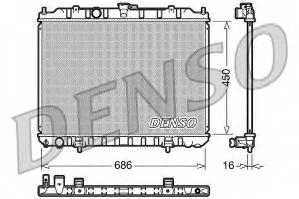 Радиатор охлаждения двигателя DENSO DRM46004 - изображение
