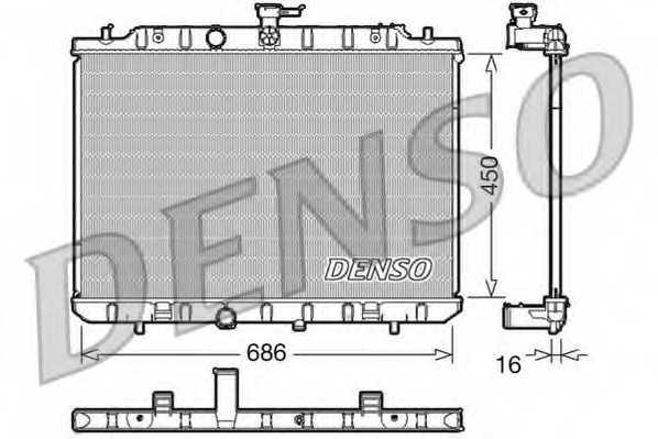 Радиатор охлаждения двигателя DENSO DRM46006 - изображение