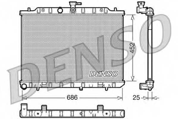 Радиатор охлаждения двигателя DENSO DRM46007 - изображение