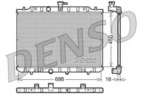 Радиатор охлаждения двигателя DENSO DRM46009 - изображение