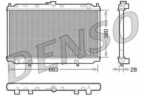 Радиатор охлаждения двигателя DENSO DRM46010 - изображение